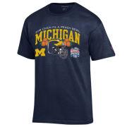 Champion University of Michigan Football Peach Bowl Navy Tee