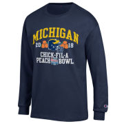 Champion University of Michigan Football Peach Bowl Navy Long Sleeve Tee