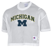 Champion University of Michigan White Mesh Shimmel Jersey