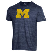 Champion University of Michigan Heather Navy Block ''M'' Logo Triblend Tee