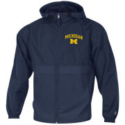 Champion University of Michigan Navy Packable Full Zip Jacket