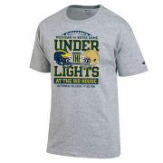 Champion University of Michigan Football vs. Notre Dame Gray ''Under The Lights'' Tee