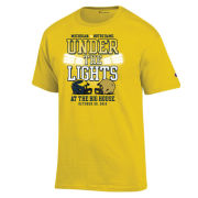 Champion University of Michigan Football vs. Notre Dame Yellow ''Under The Lights'' Tee