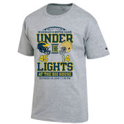 Champion University of Michigan Football vs. Notre Dame Gray ''Under The Lights'' Tee with Final Score
