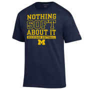 Champion University of Michigan Softball Navy ''Nothing Soft About It'' Tee