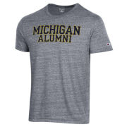 Champion University of Michigan Alumni Dark Heather Gray Triblend Tee