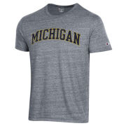 Champion University of Michigan Dark Heather Gray Triblend Tee