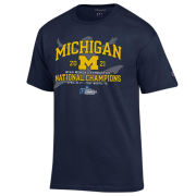 Champion University of Michigan Women's Gymnastics Navy National Champions Tee