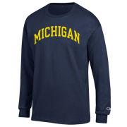 Champion University of Michigan Navy Long Sleeve Basic Tee