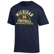 Champion University of Michigan Football Navy ''Louder Than A Cardboard Cutout'' Tee