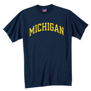 Champion University of Michigan Navy Arch Basic Tee