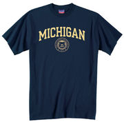 Champion University of Michigan Navy Seal Tee