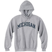 Champion University of Michigan Oxford Gray Basic Hooded Sweatshirt