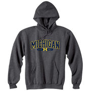 Champion University of Michigan Granite Tackle Twill Hooded Sweatshirt