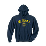 Champion Navy Michigan Seal Hood