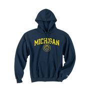 Champion Navy Michigan Seal Hood