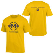 Champion University of Michigan Bicentennial Yellow Logo Tee
