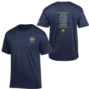 Champion University of Michigan Bicentennial Navy Left Logo Tee