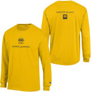 Champion University of Michigan Bicentennial Yellow Long Sleeve Logo Tee