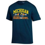 Champion University of Michigan Football Orange Bowl Navy Tee
