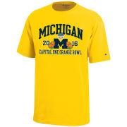 Champion University of Michigan Football Orange Bowl Yellow Tee