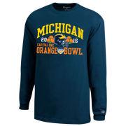 Champion University of Michigan Football Orange Bowl Navy Long Sleeve Tee
