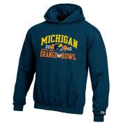 Champion University of Michigan Football Orange Bowl Navy Hooded Sweatshirt