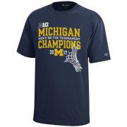 Champion University of Michigan Navy BIG10 Tournament Champs Tee