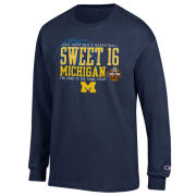 Champion University of Michigan Basketball ''Sweet 16'' Navy Long Sleeve Tee