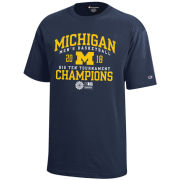Champion University of Michigan Basketball Big Ten Tournament Champions Navy Tee