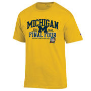 Champion University of Michigan Basketball Final Four Yellow Tee