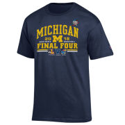 Champion University of Michigan Basketball Final Four Navy Four Team Tee