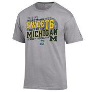 Champion University of Michigan Basketball Sweet 16 Gray Tee