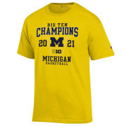 Champion University of Michigan Basketball Big Ten Regular Season Champions Yellow Tee