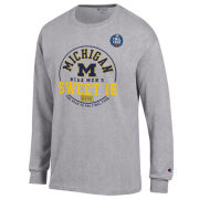 Champion University of Michigan Basketball 2021 NCAA Sweet 16 Gray Long Sleeve Tee