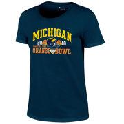 Champion University of Michigan Football Orange Bowl Women's Navy Tee