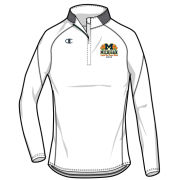 Champion University of Michigan Football Orange Bowl Women's White 1/4 Zip Pullover