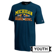 Champion University of Michigan Football Orange Bowl Youth Navy Tee