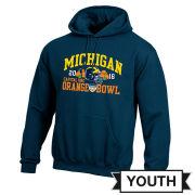 Champion University of Michigan Football Orange Bowl Youth Navy Hooded Sweatshirt