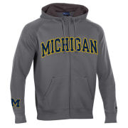 Champion University of Michigan Granite Heritage Full Zip Hooded Sweatshirt