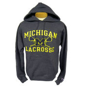 2bfb35bebb74 Champion University of Michigan Lacrosse Graphite Hooded Sweatshirt