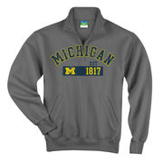 Champion University of Michigan Granite 1/4 Zip Sweatshirt