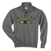 Champion University of Michigan Granite 1/4 Zip Sweatshirt