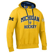 Champion University of Michigan Hockey Yellow Heritage Hooded Sweatshirt