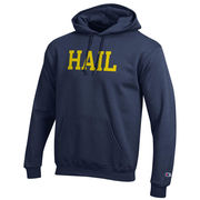 Champion University of Michigan Navy HAIL Hooded Sweatshirt