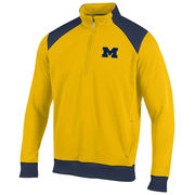 Champion University of Michigan Yellow Heritage 1/4 Zip Pullover Sweatshirt
