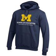 Champion University of Michigan School of Education Navy Hooded Sweatshirt