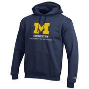 Champion University of Michigan Chemistry Navy Hooded Sweatshirt
