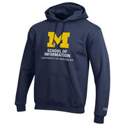 Champion University of Michigan School of Information Navy Hooded Sweatshirt