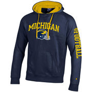 Champion University of Michigan Football Navy Heritage Hooded Sweatshirt